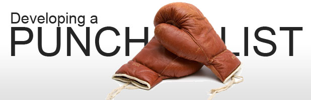 Developing a Punch List – Punch List